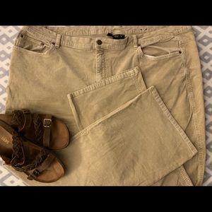 Lane Bryant Bootcut Corduroy Khaki Pants 28